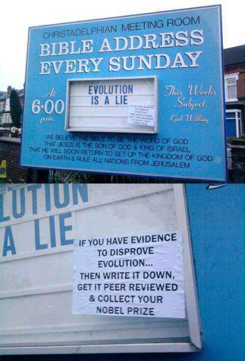Evolution is a lie…