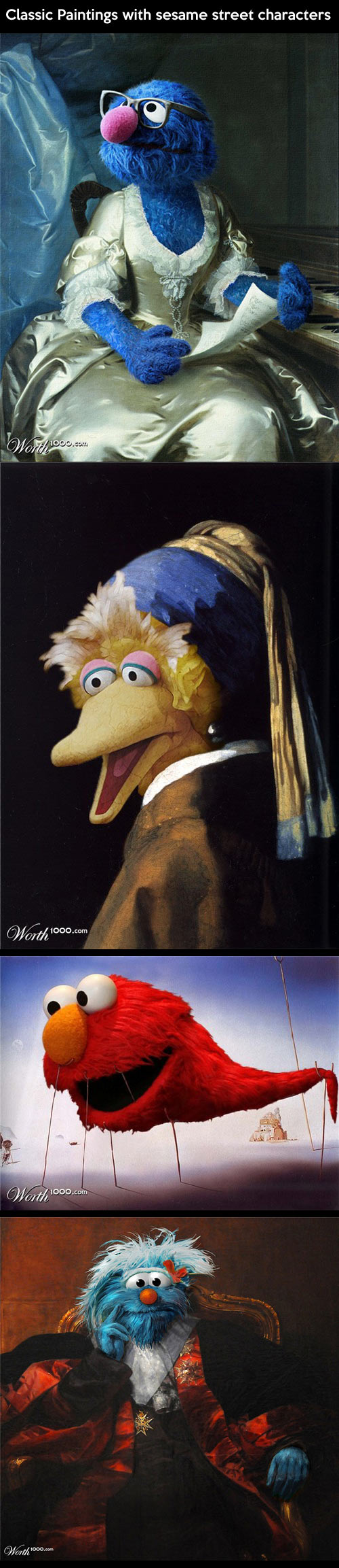 Classic Paintings Recreated with Sesame Street...