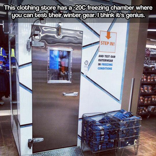 Genius freezing chamber…