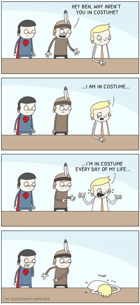 This year's costume…