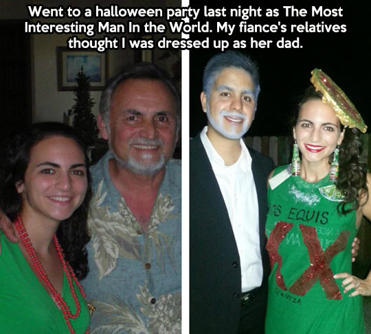 The most interesting costume in the world…