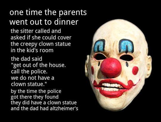 Creepy clown story…