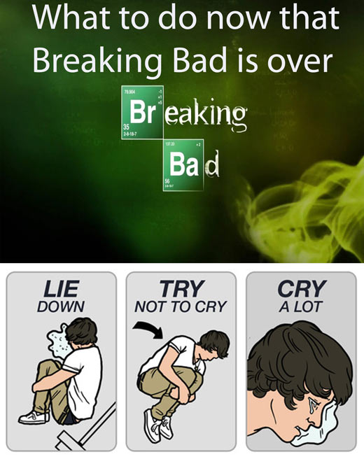 How to cope with the end of Breaking Bad…