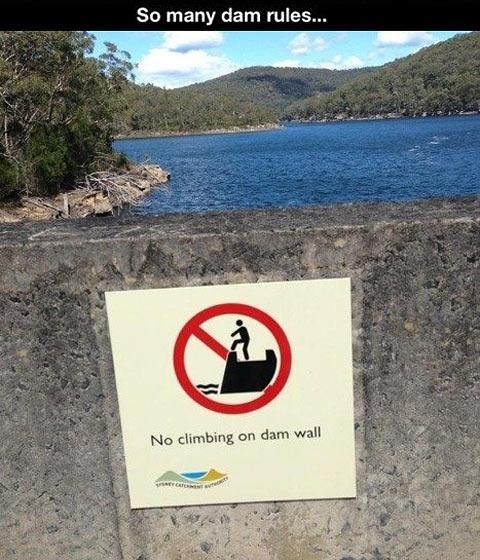 No climbing…