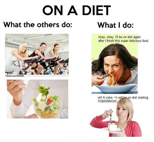On a diet…
