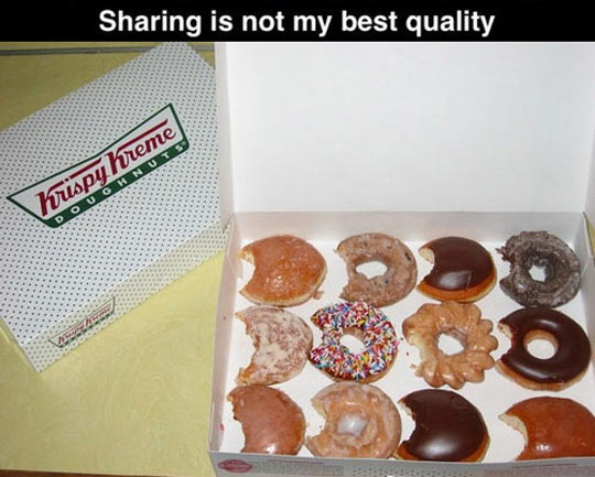 It's OK not to share…