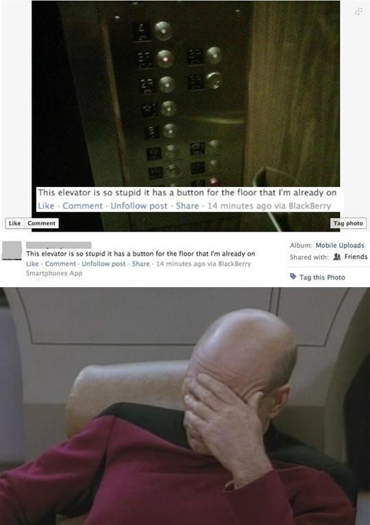Inefficient elevator…