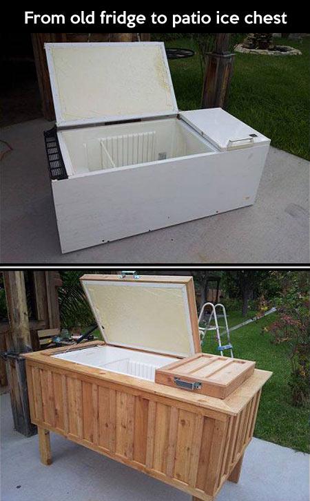 Old fridge converted into something awesome…