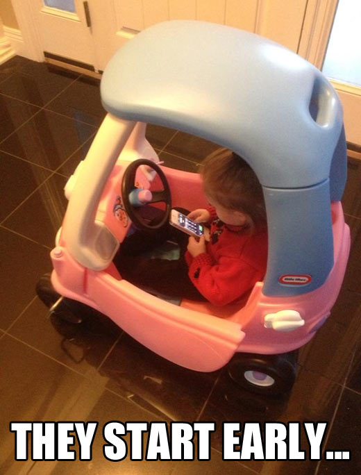 funny-girl-toy-car-cell-phone