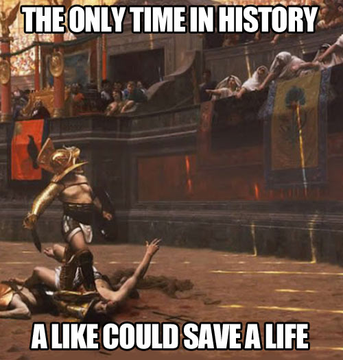 When likes could save lives…