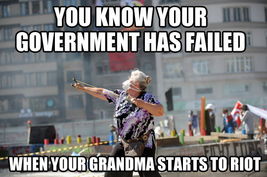 When governments fail…