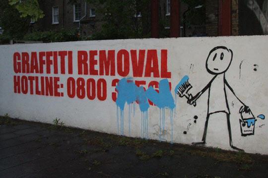 Graffiti removal…