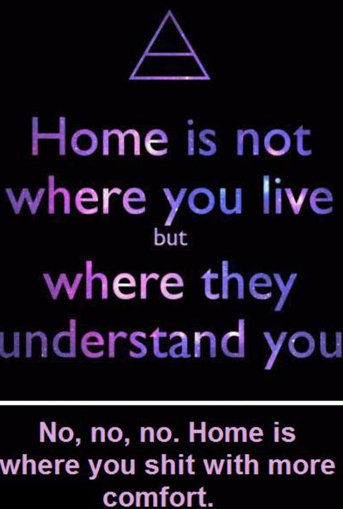 The true meaning of 'home'…