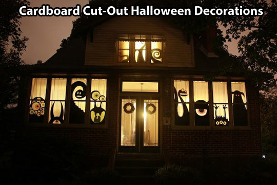 Cut-Out Halloween Decorations…