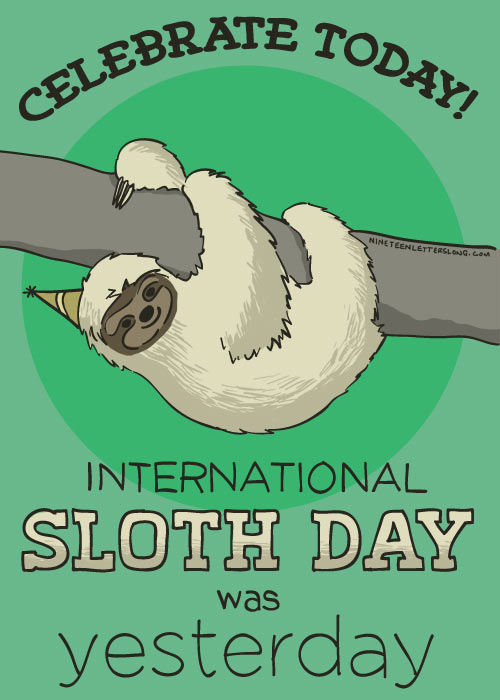funny-international-sloth-day-yesterday