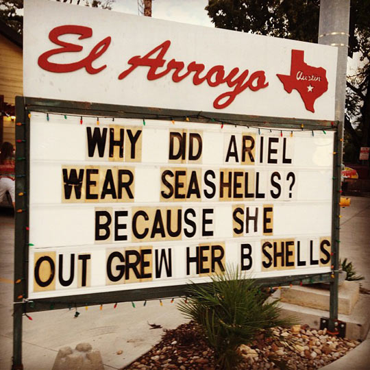 funny-joke-sign-Ariel-seashells