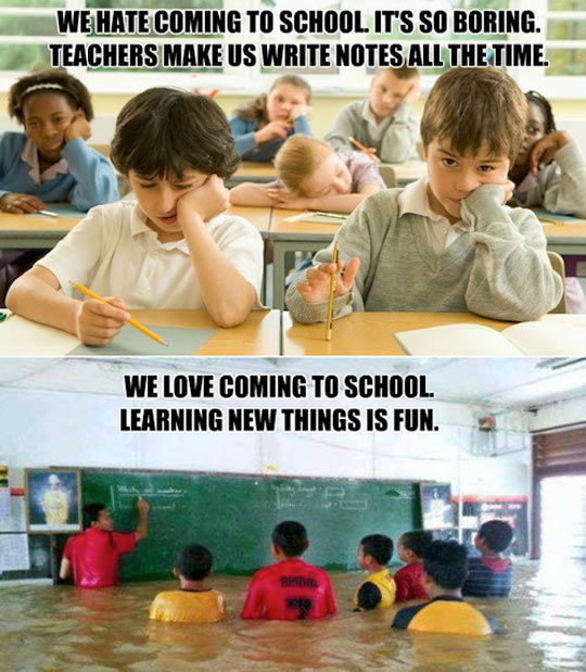 funny-kids-school-bored-flooded