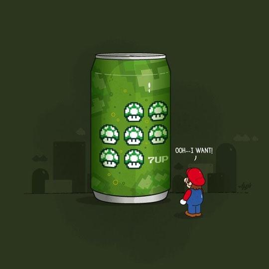 Mario's favorite soda…