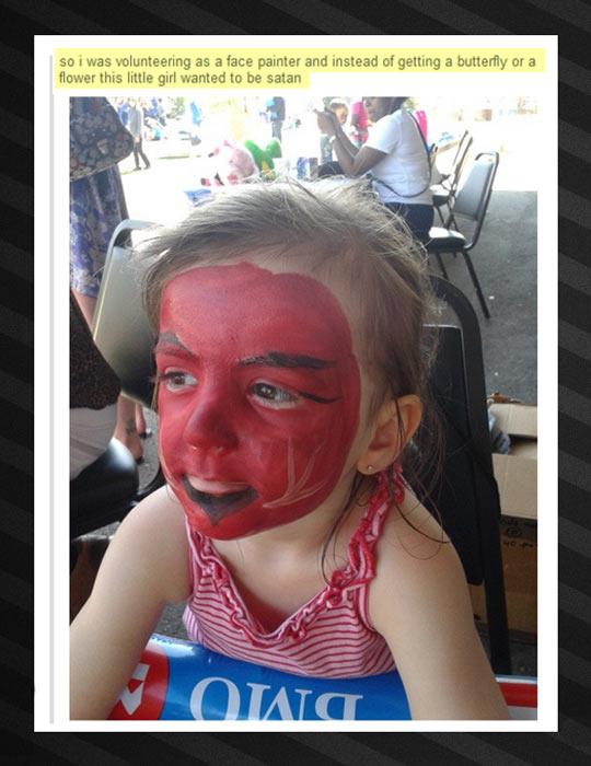 funny-little-girl-face-paint-devil