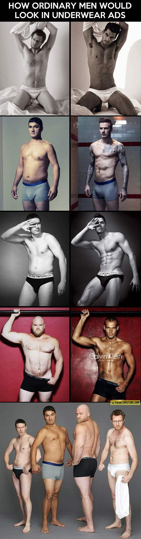 Ordinary men in underwear ads…