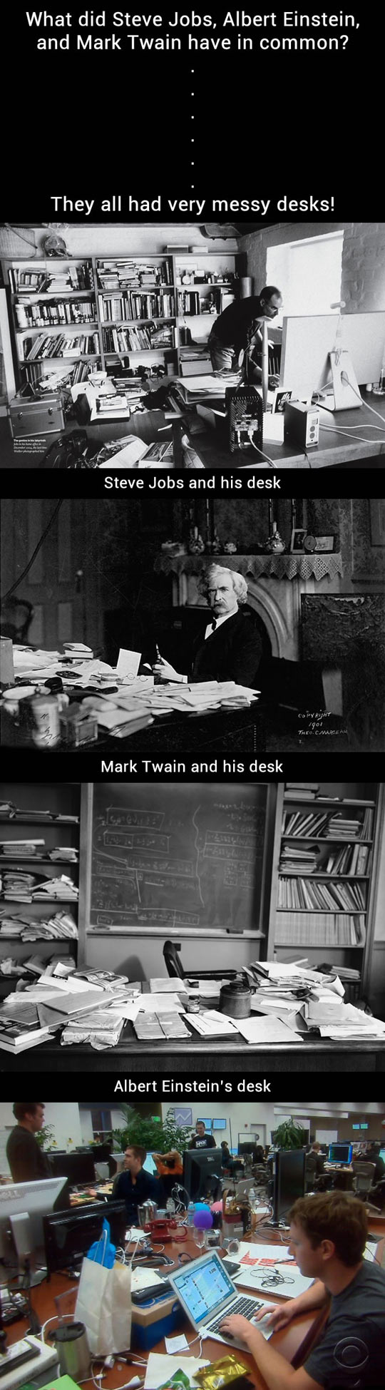 What a messy desk says about you...