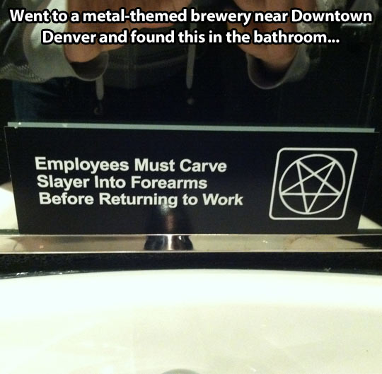Metal-themed brewery…