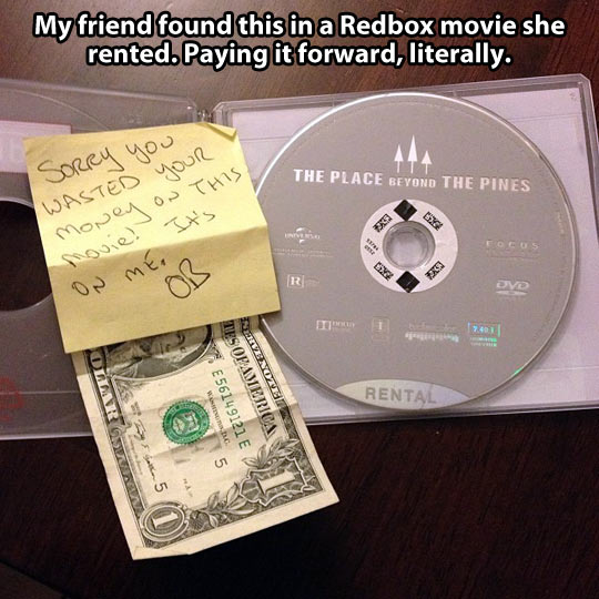 Paying it forward, literally…