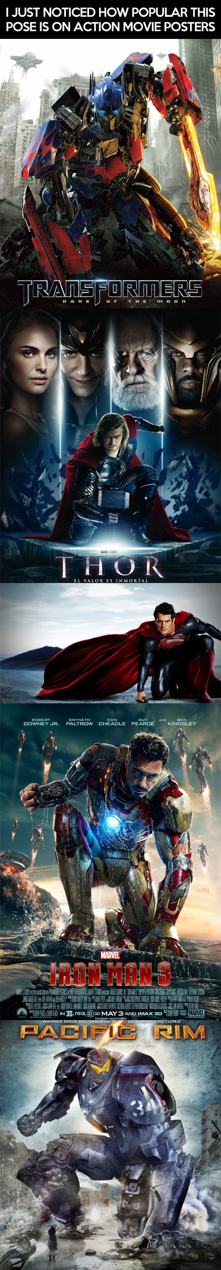 Popular pose on action movie posters…