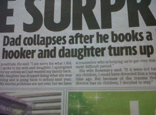 Oh daddy, not again…