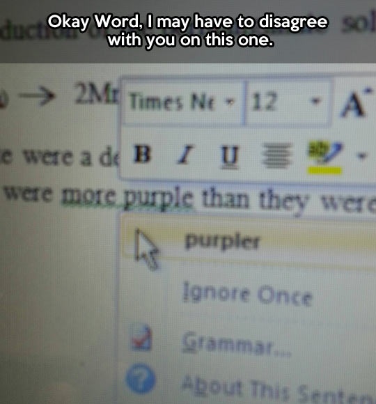 Come on, Word…