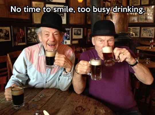 No time to smile…