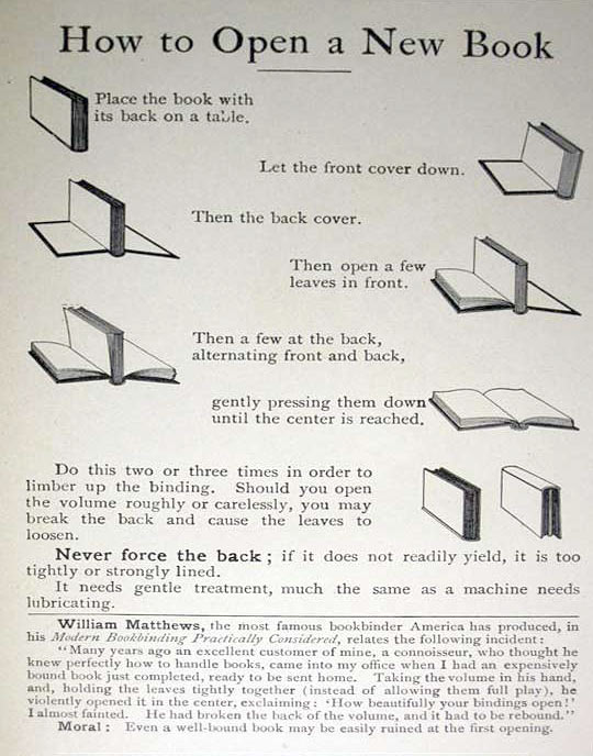 How to open a new book…