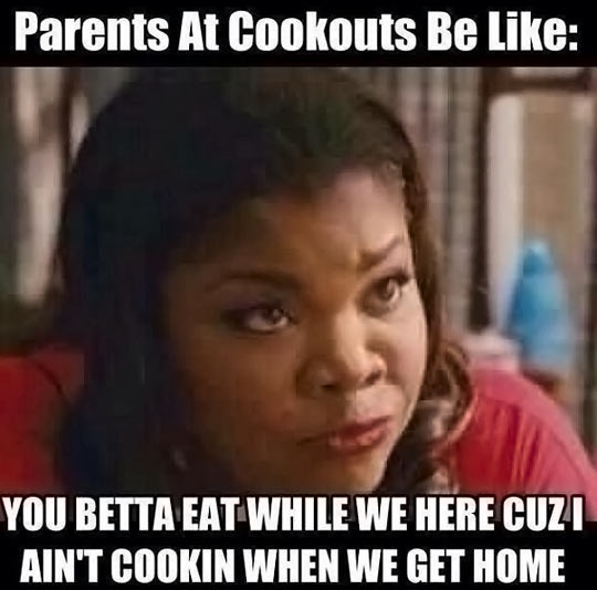 Parents at Cookouts…