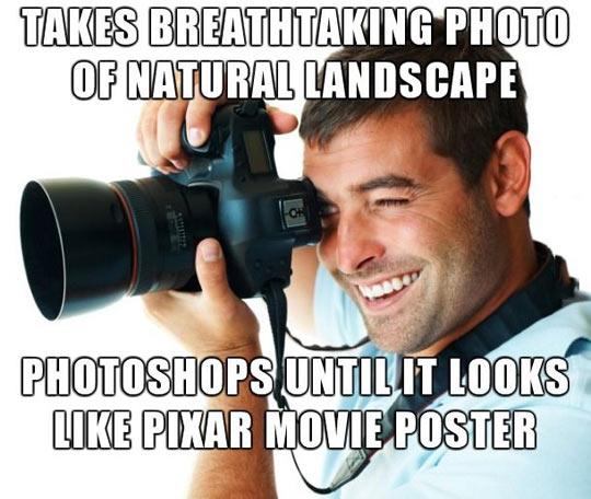 Overzealous amateur photographer…