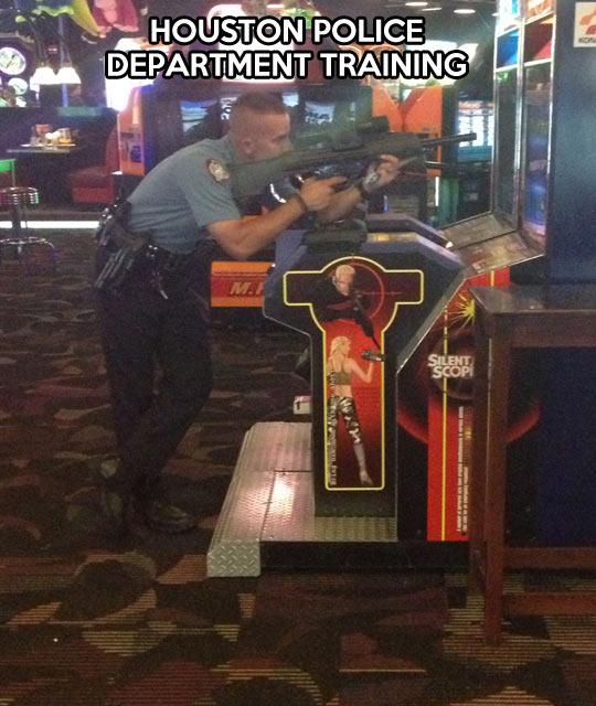 Police training…