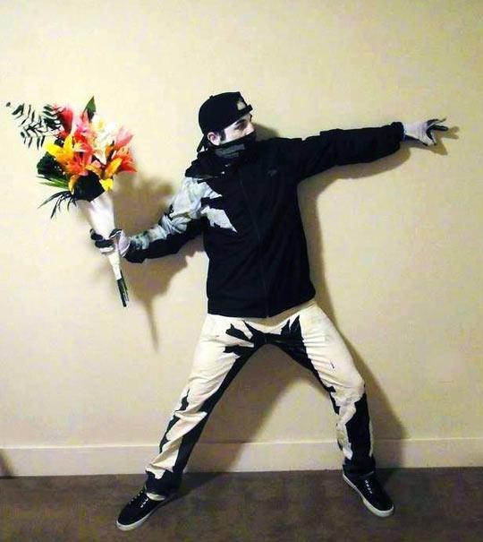 Real life Banksy…