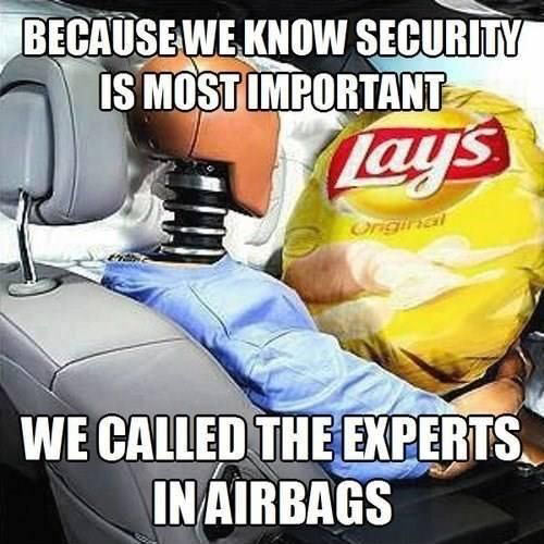 Security is important…