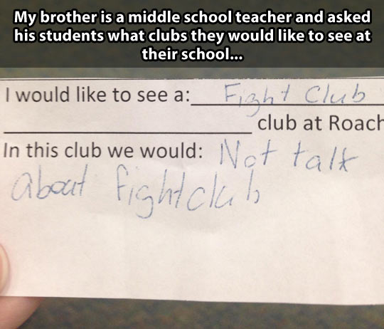 funny-school-idea-paper-Fight-Club