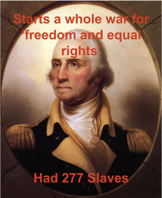 Scumbag George Washington…