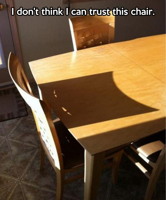 Suspicious chair…