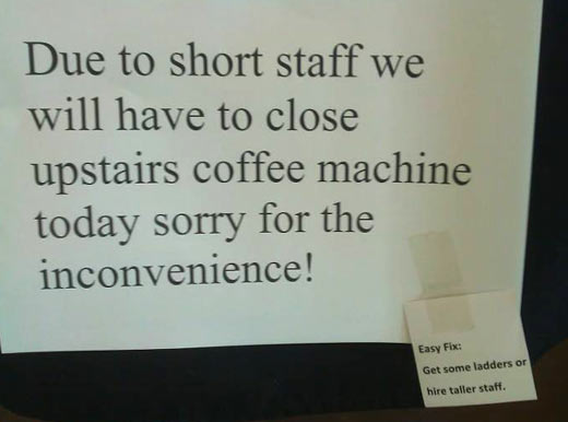 Sorry for the inconvenience…