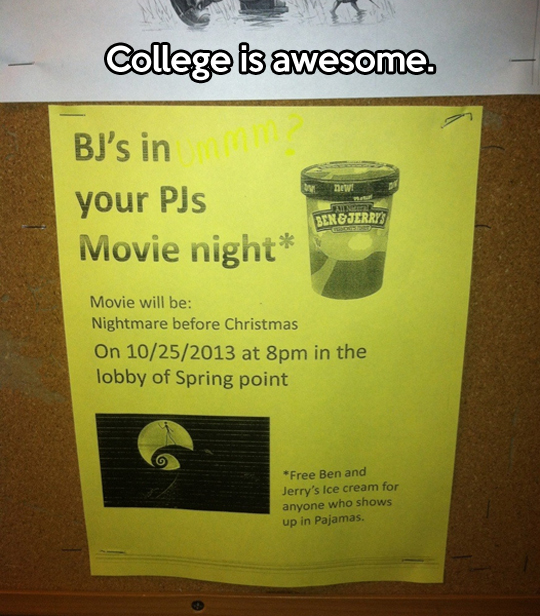This is what makes college great…