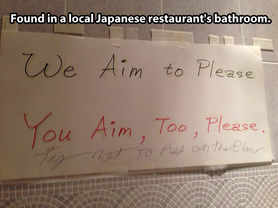 Japanese rules…