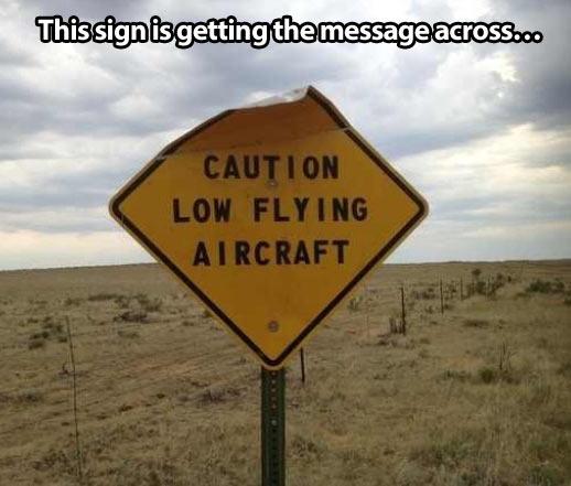 Beware of the plane…