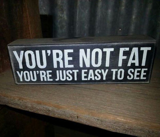 It's OK, you're not fat…