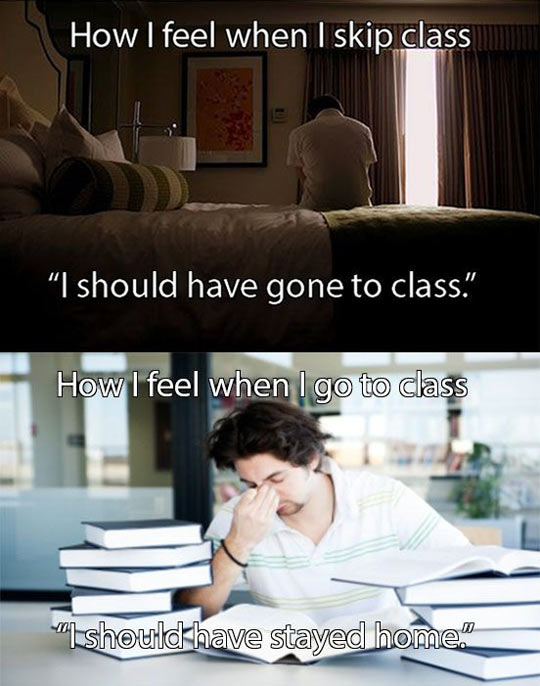 My daily struggle as a student…