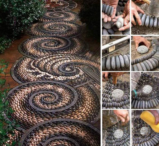 Awesome stone path design…
