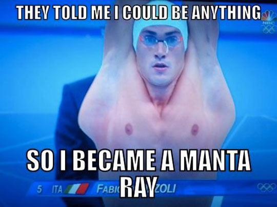 Swimmer fulfills his dream…