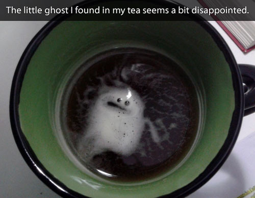 Disappointed ghost…