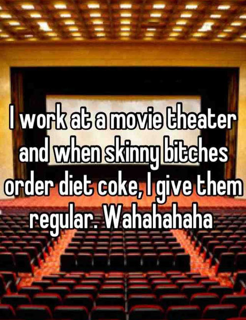 The perks of working in a movie theater…
